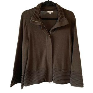 Cache Cardigan Sweater Full Zip Up Wide Sleeves L
